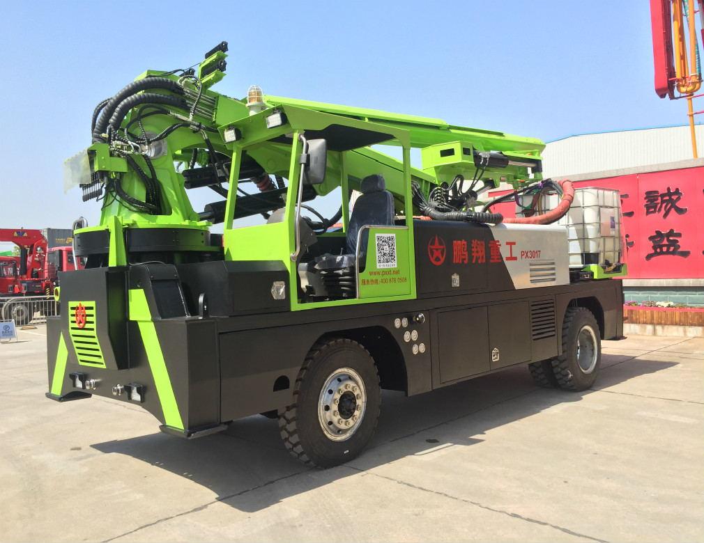 湖南长沙喷浆车之PX3017四驱轮式喷浆车