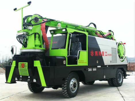 鹏翔星通PX2816D轮式湿喷机械手—湖南长沙优质湿喷机械手生产厂家