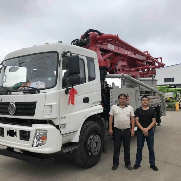 新农村33米搅拌臂架泵车一台发货广西南宁;
